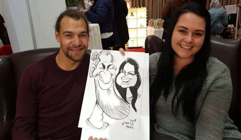 D'Aria wedding caricatures