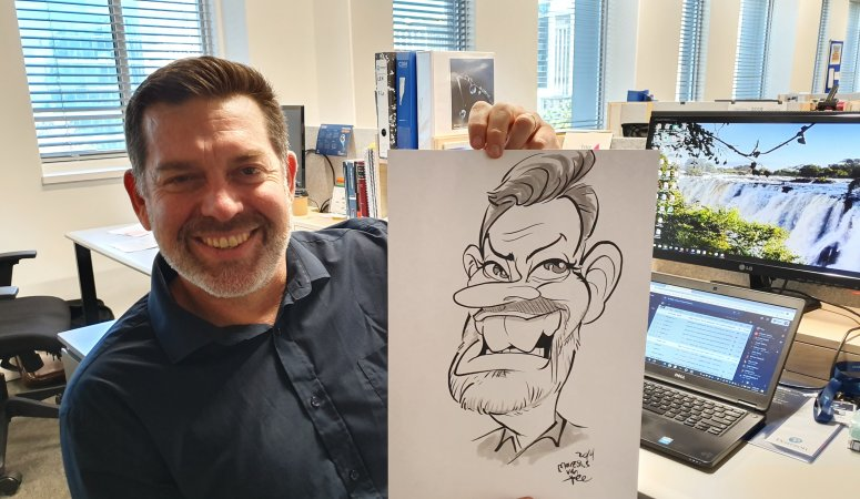 Caricatures drawn at Pearson Publishing Cape Town