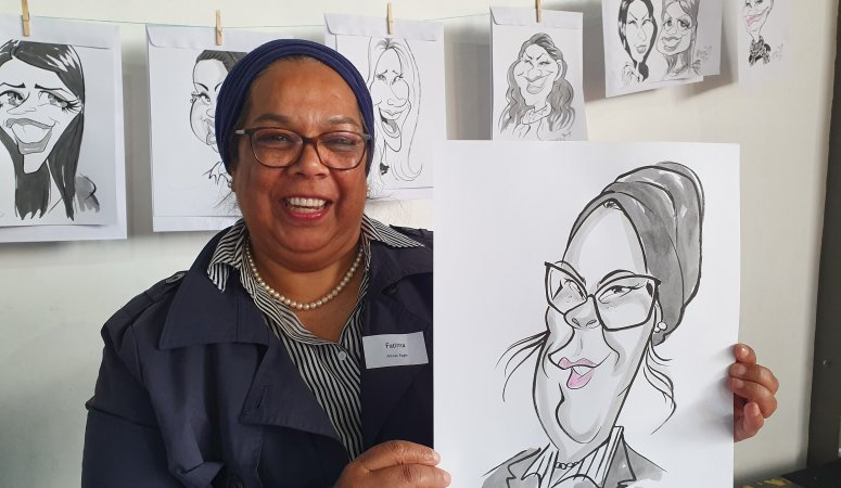 Wonderful Winter Workshop Cape Town Caricatures Day2