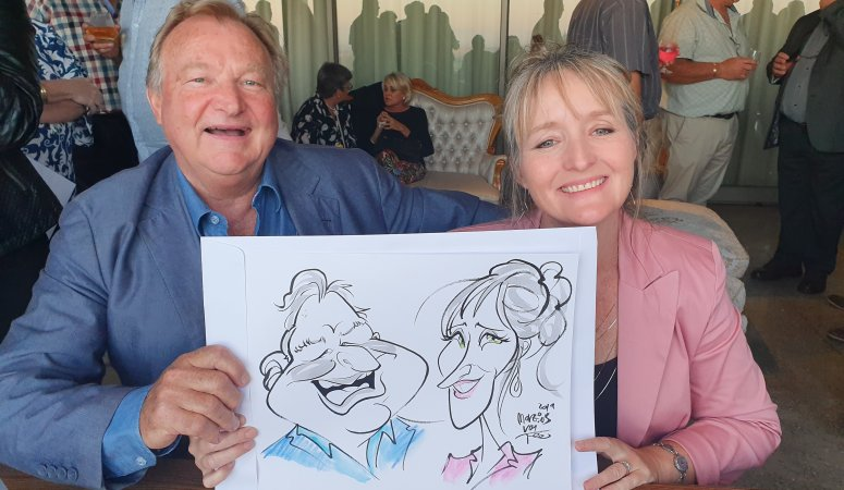 Caricature portraits at Spar Event at Eureka Wine Estate Durbanville