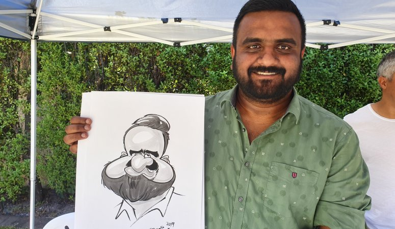 Year End Caricatures in Constantia