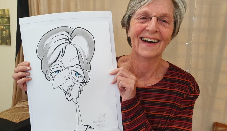 Clinic Staff Caricatures in Cape Town